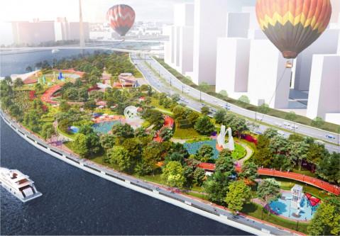 Плавучий спа-центр с открытыми бассейнами появится на набережной Марка Шагала